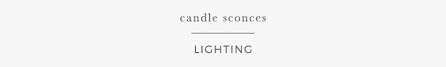candle sconces