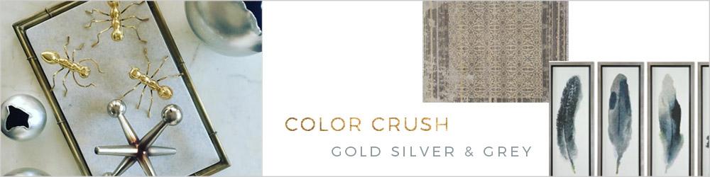Gold Silver & Grey