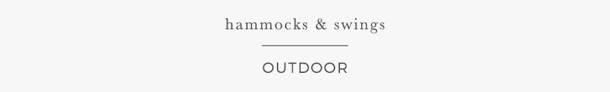 hammocks & swings