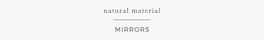 natural materials